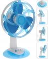 Tafelventilator blauw 30 cm