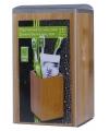 Tandenborstel houder gecarboniseerd bamboe 11 cm