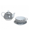 Tea for one theeset retro zigzag