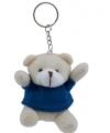 Teddybeer sleutelhanger blauw