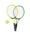 Tennis set groen geel voor kinderen