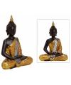Thaise boeddha beeld bruin goud 42 cm