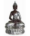 Thaise boeddha beeld zilver metaal 30 cm