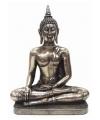 Thaise boeddha beeld zilver metaal 31 cm