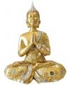 Thaise boeddha beeldje goud 22 cm