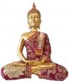 Thaise boeddha beeldje rood 25 cm