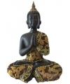 Thaise boeddha beeldje zwart 22 cm