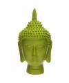 Thaise boeddha hoofd lime beeld 15 cm