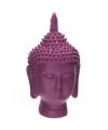 Thaise boeddha hoofd paars beeld 15 cm