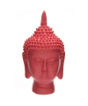 Thaise boeddha hoofd rood beeld 15 cm