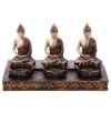 Thaise boeddha theelichthouder 3 x