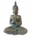 Thaise mediterende boeddha beeldje brons 18 cm