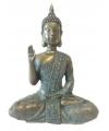 Thaise mediterende boeddha beeldje brons 28 cm