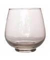 Theelichthouder bruges grijs glas 10 cm