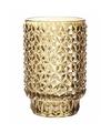 Theelichthouder vienna goud glas 13 cm