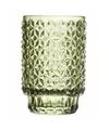 Theelichthouder vienna groen glas 13 cm