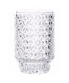 Theelichthouder vienna helder glas 13 cm