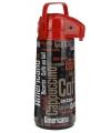 Thermoskan met dispenser zwart rood
