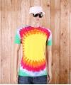 Tie dye t shirt explosion