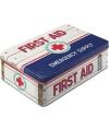 Tinnen first aid doosje