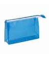 Toilettas mini blauw 17 cm