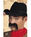 Toppers cowboy snor zwart