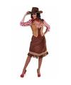 Toppers cowgirl jurk met geruite blouse voor dames