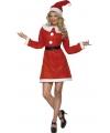 Toppers dames kleding kerstjurkje met kerstmuts