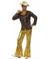 Toppers disco kostuum goud voor heren