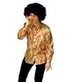 Toppers gekleurde disco blouse voor heren