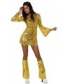 Toppers goud disco kostuum voor dames