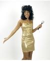 Toppers goud glimmend dames jurkje