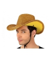 Toppers gouden glitter cowboyhoed