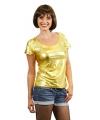 Toppers gouden shirt voor dames