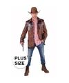 Toppers grote maten cowboy jas bruin voor heren