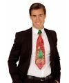 Toppers kerst glitter stropdas voor heren