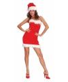 Toppers kerst jurkje strapless voor dames