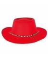 Toppers rode cowboyhoed voor volwassenen