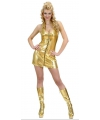 Toppers sexy goud dames jurkje met rits