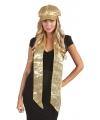 Toppers sjaal met gouden pailletten
