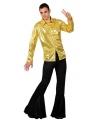 Toppers voordelig goud disco kostuum heren