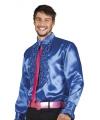 Toppers voordelige blauwe rouche blouse