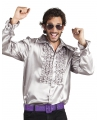 Toppers voordelige zilveren rouche blouse