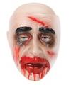 Transparant masker bloederige zombie