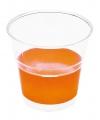 Transparante bekers met oranje rand