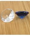 Transparante glazen diamant 5 cm