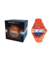 Trendy holland horloge oranje voor dames
