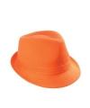 Trendy oranje hoedje 100 katoen