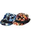 Trilby hawaii hoed blauwe bloemen