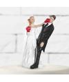 Trouwfiguurtje boksend bruidspaar